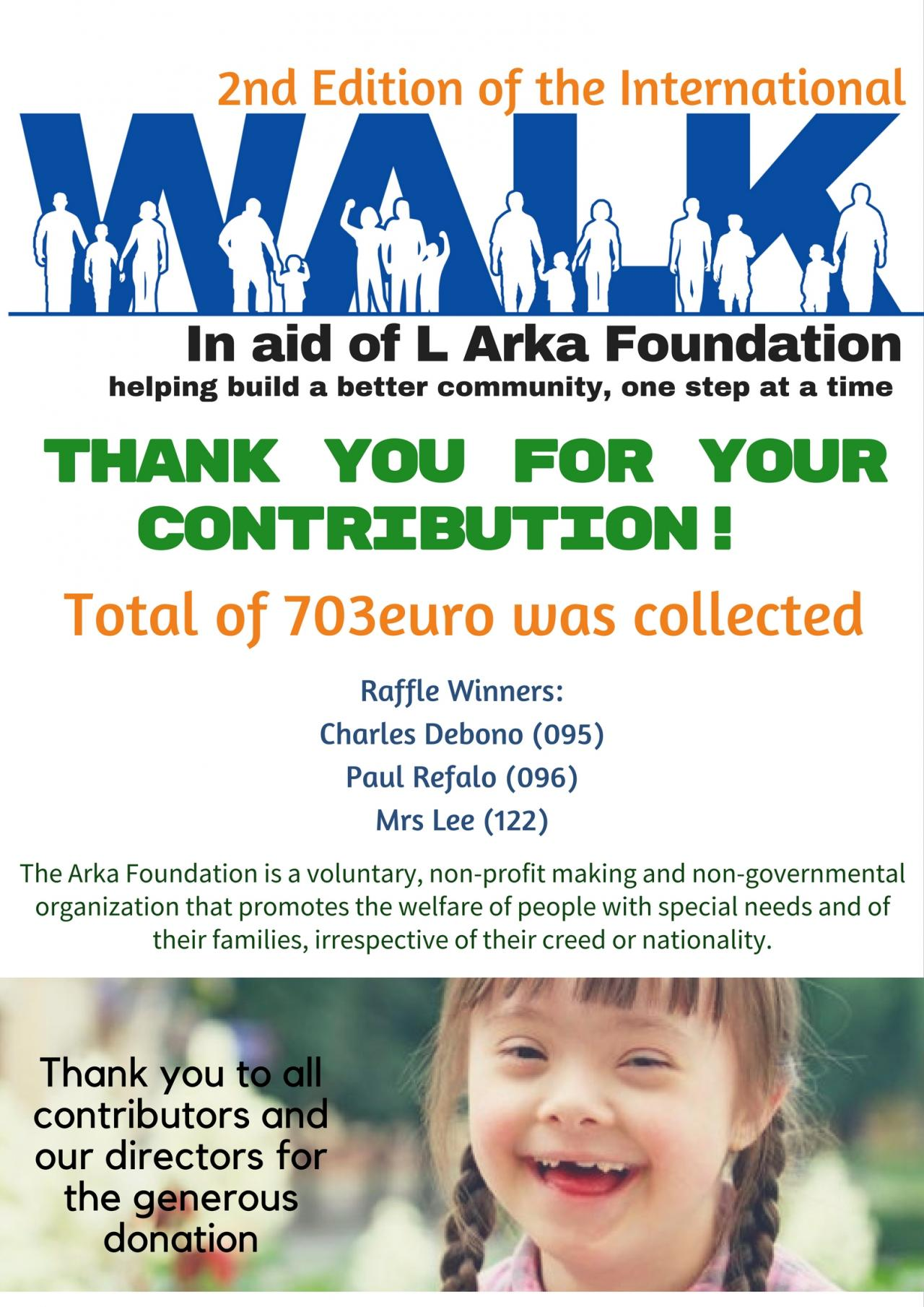 Walkathon in Aid of Arka Foundation